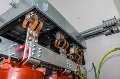View on transformer on the site Stock Image