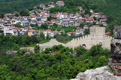 View of Trapezitsa Fortress from Tsarevets Royalty Free Stock Image