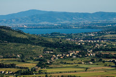 View of Trasimeno Lake royalty free stock images