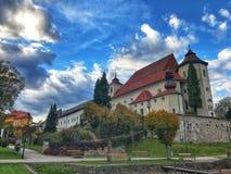 View of Traunkirchen, Traunsee, in Salzkammergut, Upper Austria Royalty Free Stock Image