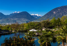 View from Trauttmansdorff castle. Meran, South Tyrol Royalty Free Stock Image