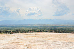 View from travertine terrace Stock Image