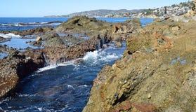 View of Treasure Island and coastline in Laguna Beach, California. Stock Photography