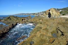 View of Treasure Island and coastline in Laguna Beach, California. Royalty Free Stock Photography