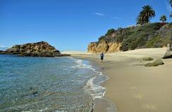 View of Treasure Island and coastline in Laguna Beach, California. Royalty Free Stock Images