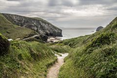View of Trebarwith Sands near Tintagel, Cornwall Royalty Free Stock Photography