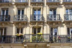 View of a treditional building in Paris Stock Photography