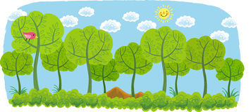 The view of trees Royalty Free Stock Photo