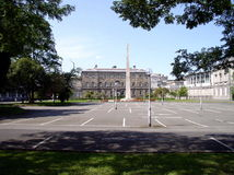 View through trees, Leinster House, Dublin Ireland Royalty Free Stock Photography