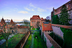 View of the trench from the window Malbork castle Royalty Free Stock Photo