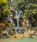 A view of a Triberger Waterfall of national park, Germany. An enthralling view of a Triberger Waterfall of national park, Germany, during summers, daytime Royalty Free Stock Image