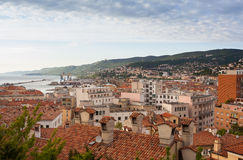 View of Trieste roofs Royalty Free Stock Photos