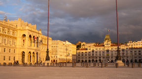 View of Trieste square Royalty Free Stock Images