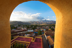 View of Trinidad, Cuba from up Stock Photo