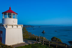 View of the Trinidad Memorial Lighthouse Stock Photography