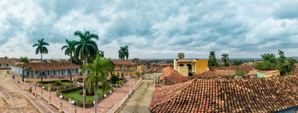 View of Trinidad street in Cuba stock images