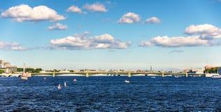 View of Trinity Bridge in Saint Petersburg Royalty Free Stock Photos