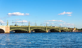 View of Trinity Bridge in Saint Petersburg Royalty Free Stock Photos