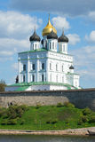 View of Trinity Cathedral, Pskov Kremlin. Russia Royalty Free Stock Images