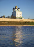 View of the Trinity Cathedral. Pskov Kremlin, Russia Royalty Free Stock Images