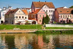 View of Trinity hill and Svislach river. In Minsk city, Belarus Republic Royalty Free Stock Image