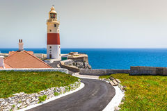 A view of the Trinity Lighthouse at Europa Point, in Gibraltar, Stock Photos
