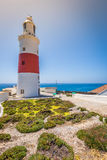 A view of the Trinity Lighthouse at Europa Point, in Gibraltar, Royalty Free Stock Image