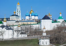 View of Trinity Sergius Lavra in Sergiev Posad Stock Photos