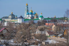 View of Trinity Sergius Lavra in Sergiev Posad. Stock Image