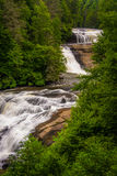 View of Triple Falls, in Dupont State Forest, North Carolina. Royalty Free Stock Photos