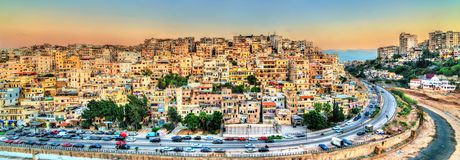 View of Tripoli, the second-largest city in Lebanon. Cityscape of Tripoli, the largest city in northern Lebanon royalty free stock images
