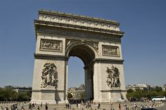 View on the Triumph Arch Stock Photos