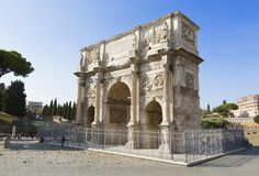 View on triumphal arch of Constantine, Rome. Italy Stock Images