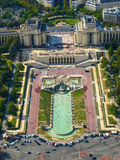 View of Trocadero from Eiffel Tower Stock Photos