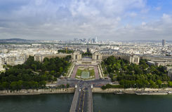 View of the Trocadero from the Eiffel Tower – Paris, France Royalty Free Stock Photography