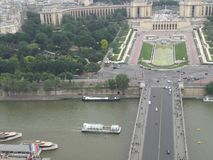 View of the Trocadero Square from the Eiffel Tower in Paris France Europe. royalty free stock image