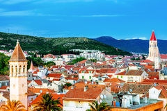 View of Trogir old town in the evening Royalty Free Stock Photos