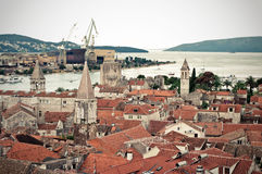 View on Trogir port Royalty Free Stock Photo