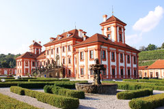 View on the Troja Chateau in Prague Royalty Free Stock Image
