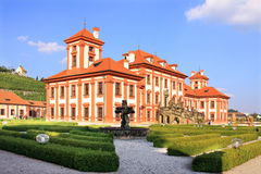 View on the Troja Chateau in Prague Stock Images