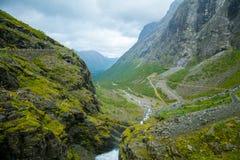 View of the Trollstigen Road Stock Image