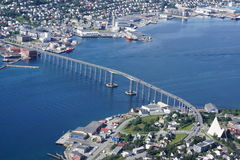 View of Tromso. From Storsteinen, Norway Stock Photos