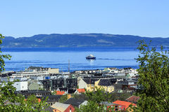 View of Trondheim fjord in Trondheim, Norway Royalty Free Stock Image