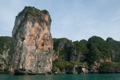 View tropical beach, andaman sea,Krabi Province Thailand Royalty Free Stock Photo