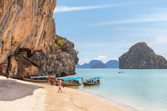 View of tropical beach at phang nga bay Thailand Stock Photos