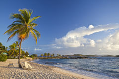 View of a tropical beach in the Caribbean Stock Photo