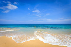 View of tropical beach in Thailand Royalty Free Stock Image