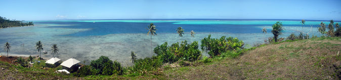 View from tropical island (French Polynesia) Royalty Free Stock Photo