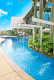The view of tropical resort Royalty Free Stock Image