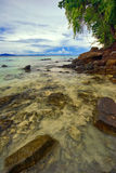View on the tropical sea and beach Stock Photography